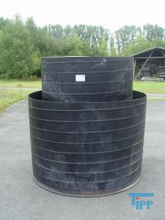 details anzeigen - Beh�lter mit Auffangwanne / Chemikalienlagertank / Rundbeh�lter, doppelwandig