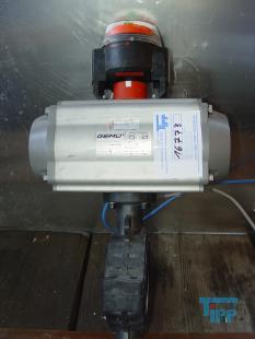 details anzeigen - 2/2-Wege-Zwischenbauklappe mit pneumatischen Kolbenantrieb, Absperrklappe mit pneumatischem Antrieb