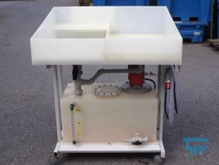 show details - mobile sink basin PP with sump pumpstation