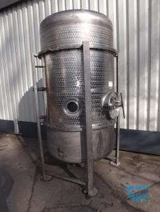 details anzeigen - Vakuumverdampferkessel/ Destillationsbeh�lter/ Destille/ Unterdruckbeh�lter