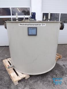 details anzeigen - Neutralisationsbehälter / Rundbehälter mit Rührwerk / Behandlungsbehälter / Rührwerksbehälter / Speicherbehälter