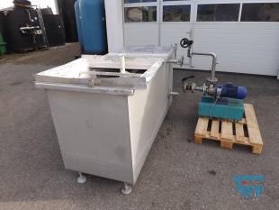 details anzeigen - Pumpstation / Vorlagebehälter mit Pumpe für Pulverbeschichtung / Umwälz- und Kreislaufstation
