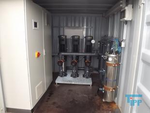 show details - UV sterilization plant with pressure pumps built in a container