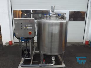 show details - UV sterilization plant with closed stainless steel tank