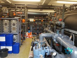 show details - EUROWATER ultrapure water plant with reverseosmosis, softener, electrodeionisation, membrane evaporation, uv-desinfection, pressure increasing
