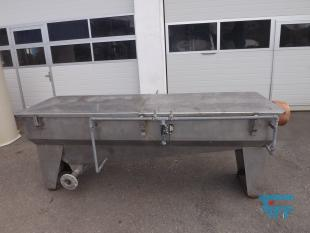 show details - Settling tank / rectangular tub made of stainless steel for sludge dewatering with connections and 2 flushing lances
