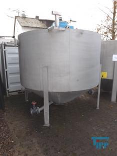 show details - mixing tank with conical bottom and gear mixer