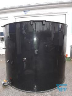 show details - tank made of polyethylene with flat bottom / round tank / treatment tank / storage tank /