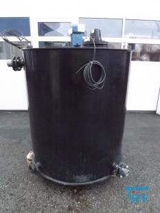 show details - tank made of polyethylene with flat bottom / agitator tank / round tank / treatment tank / storage tank /