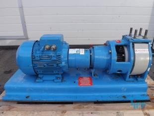 show details -  base plate centrifugal pump with pump head made of PP plastic