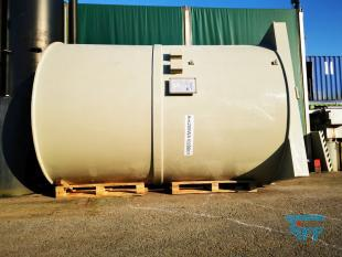 show details - PP round tank with flat bottom and agitator / treatment tank / agitator tank / storage tank