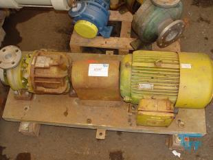 details anzeigen - Chemie-Kreiselpumpe / Chemiepumpe / Kreiselpumpe / Grundplattenpumpe