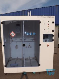 details anzeigen - KINETICS-Chemikalien-Dosierstation im Reinraumkabinett in PTFE-montiert, Absaugkabinett, Gefahrstofflager mit Pumpstation, Lagerschrank für aggressive und korrosive Behandlungschemikalien