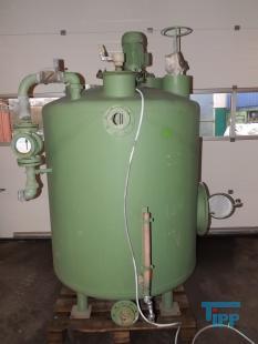 details anzeigen - Kalkmilch-Ansatzbehälter aus Stahl mit Getrieberührwerk / Vorlagebehälter / Behandlungsbehälter / Speicherbehälter