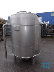 details anzeigen - Isolierter Edelstahlbehälter /Behälterboden als Klöpperboden / Rundbehälter/ Behandlungsbehälter
