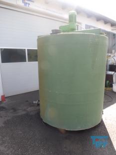details anzeigen - Chargenreaktor/Kunststoffbehälter/GFK BehälterRührwerksbehälter/Behandlungsbehälter/Speicherbehälter mit Getrieberührwerk
