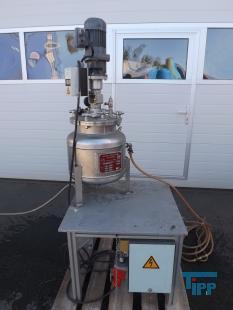 details anzeigen - Druckreaktor / Druck-Reaktionsbehälter mit Rührwerk / Beheizbarer Druckbehälter mit hermetischem Getrieberührwerk/ Versuchsanlage/ Technikumsanlage