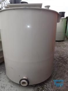 details anzeigen - Rundbehälter mit konischem Boden aus PP/Behandlungsbehälter/Rührwerksbehälter/Speicherbehälter