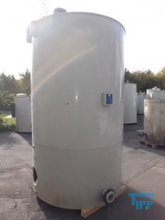 details anzeigen - Rundbehälter mit konischem Boden und Rührwerkstraverse und Rührwerkswelle aus PP/Behandlungsbehälter/Behandlungsbehälter/Rührwerksbehälter/Speicherbehälter
