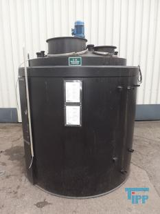 details anzeigen - Rührwerksbehälter / Chemikalienlagertank mit Auffangbehälter / Speicherbehälter