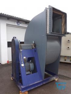 details anzeigen - Radialventilator aus PVC für aggressive Gase aus Galvanik etc. , Ventilator, Gebläse