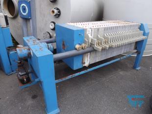 details anzeigen - Kammerfilterpresse mit pneumatisch betriebener Hydraulik