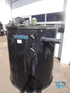 details anzeigen - Chargenbehandlungsbehälter, Kunststoffbehälter, Neutralisationsbehälter, Abwasserneutralisation, PE Rundbehälter