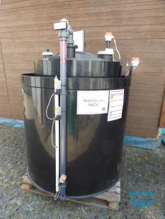 details anzeigen - Chemikalienlagertank mit Auffangbehälter, Leckagesonde, Füllstandsaufnehmern, Überfüllsonde / doppelwandiger Speichertank / Chemical storage tank
