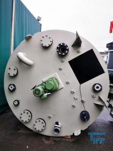 details anzeigen - Rundbehälter aus PP mit Flachboden und Rührwerk / Behandlungsbehälter / Rührwerksbehälter / Speicherbehälter